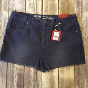 Mossimo High waisted shorts, size 14, NWT